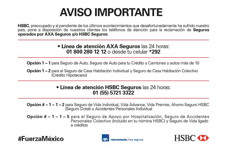 53ecada99cf Aclaraciones - HSBC México